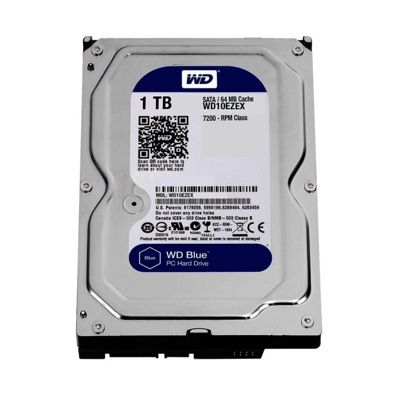 "WD INTERNAL HARD DRIVE (BLUE) 1TB 3.5"" SATA 7200RPM"